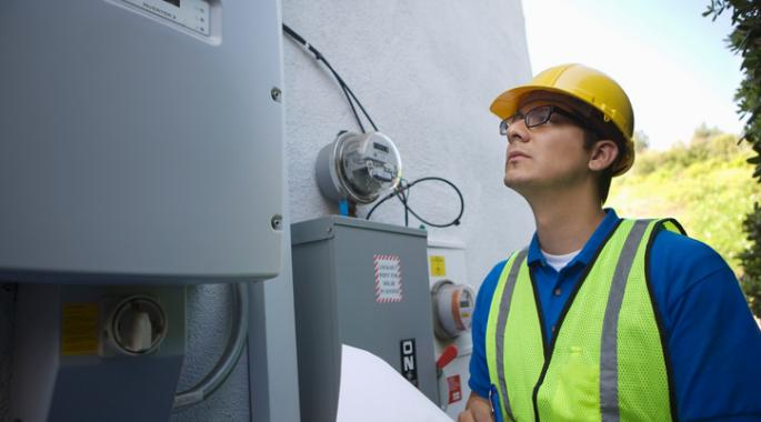 construction worker with submeter